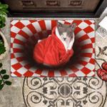 cat Lovers  Door Mat Sphynx Christmas