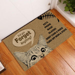 Door Mat Cat Did You Forget Anything