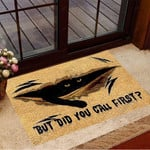 Black Cat But Did You Call First 3D Doormat Vintage Door Mat Designs Gift Ideas For Cat Owners