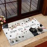 Hope you like cats Cat Doormat  Welcome Mat