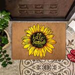 Hello Sunshine Doormat Sunflower Door Mat Sunflower Welcome Floor Mat Indoor Outdoor