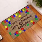 Autism Family Awareness Doormat  Welcome Mat