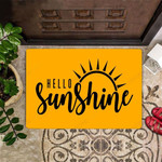 Hello Sunshine Doormat Welcome Mat Sunflower Decorative Door Mat Outdoor New House Gift Idea
