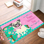 Frenchie Valentine Doormat Happy Valentines Day Indoor Mat For Front Door Valentine Day Decor