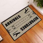 Arrivals And Departures Pilot Funny Outdoor Indoor Wellcome Doormat