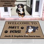 BERNESE MOUNTAIN DOG Funny Outdoor Indoor Wellcome Doormat - Funny Outdoor Indoor Wellcome Doormat