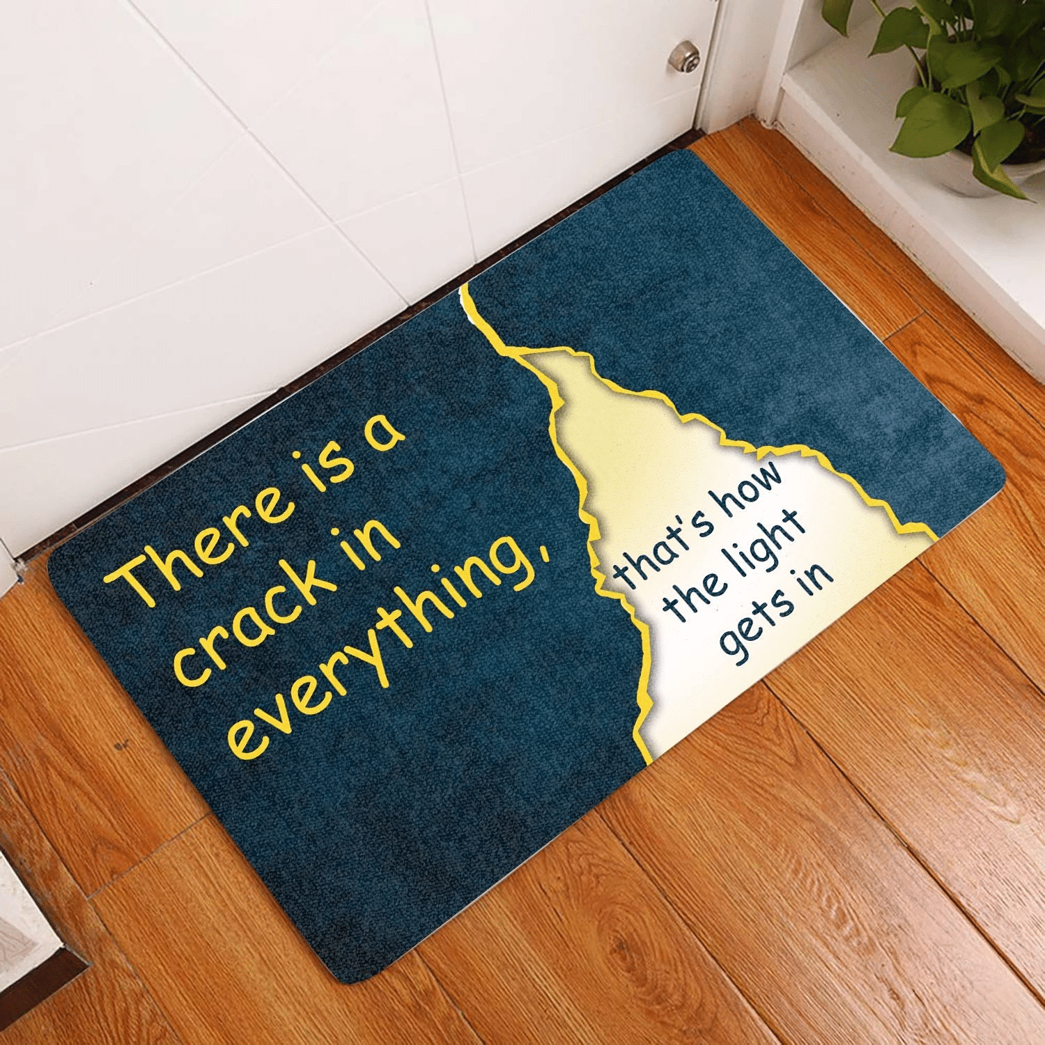 Lovers  Door Mat There is a crack in everything
