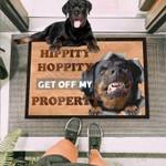 Get Off My Property Rottweiler Funny Outdoor Indoor Wellcome Doormat