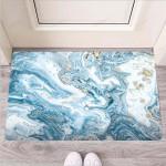 Golden Powder Blue Marble Funny Outdoor Indoor Wellcome Funny Outdoor Indoor Wellcome Doormat