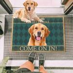 Golden Retriever Dog Come On In Funny Outdoor Indoor Wellcome Doormat