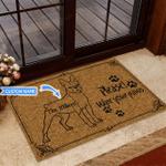 Boston Terrier - Wipe your paws Funny Outdoor Indoor Wellcome Doormat
