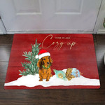 Dachshund Come In And Cozy Up Doormat Cute Funny Christmas Doormat Housewarming Gift Idea