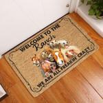 Door Mat Welcome To The Ranch Coir Pattern