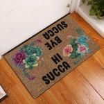 Hi Bye Succa Succulent Doormat  Welcome Mat