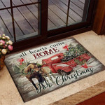 All hearts come home for christmas Horse Doormat  Welcome Mat  House Warming Gift