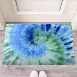 Green And Blue Tie Dye Funny Outdoor Indoor Wellcome Funny Outdoor Indoor Wellcome Doormat