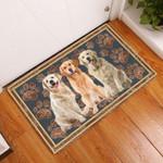 Golden Retriever Floral Paw - Dog Doormat  Welcome Mat