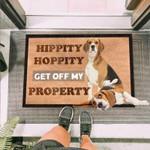 Get Off My Property Beagle Funny Outdoor Indoor Wellcome Doormat