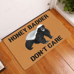 Honey Badger Dont Care Doormat  Welcome Mat  House Warming Gift