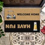 Lovers  Door Mat Vodka - Have Fun  Welcome Home