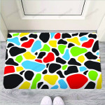 Colorful Cow Print Funny Outdoor Indoor Wellcome Funny Outdoor Indoor Wellcome Doormat