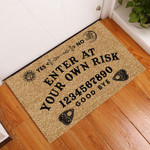 Door Mat Enter At Your Own Risk Ouija Board Witch