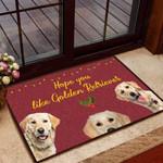 Hope you like golden retriever Dog Funny Outdoor Indoor Wellcome Doormat
