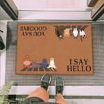 Cats Chilling Funny Outdoor Indoor Wellcome Doormat