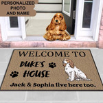 English Cocker Spaniel dog Funny Outdoor Indoor Wellcome Doormat - Funny Outdoor Indoor Wellcome Doormat