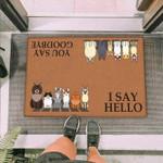 Cartoon Cats Funny Outdoor Indoor Wellcome Doormat