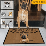 Dog Name And Breed My Dog And I Talk Shit About You Funny Outdoor Indoor Wellcome Doormat - Funny Outdoor Indoor Wellcome Doormat