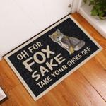Door Mat Take Your Shoes Off Fox