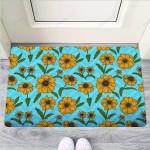 Blue Zigzag Sunflower Funny Outdoor Indoor Wellcome Funny Outdoor Indoor Wellcome Doormat