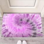 Black And Purple Tie Dye Funny Outdoor Indoor Wellcome Funny Outdoor Indoor Wellcome Doormat