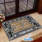 Built on love and Horse racing Funny Outdoor Indoor Wellcome Doormat