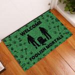 Door Mat Welcome Foolish Mortal Zombie