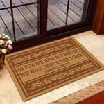 As For Me And My House We Will Serve The Lord Doormat Christian Bible Verse Home Decor