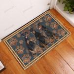Doberman Pinscher Flower Paw - Dog Doormat  Welcome Mat