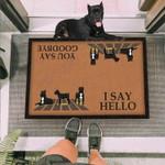 Cane Corso Dog I Say Hello Brown Funny Outdoor Indoor Wellcome Doormat