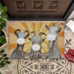 Goats Eww People Funny Outdoor Indoor Wellcome Doormat