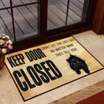 Black Cat Keep Door Close Carpet Home Depot Carpet For Cat Lover Living Room Cute Funny Outdoor Indoor Wellcome Doormat