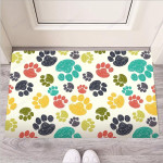 Colorful Doodle Paw Funny Outdoor Indoor Wellcome Funny Outdoor Indoor Wellcome Doormat