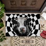 Farm Animals Illusion - Cow Funny Outdoor Indoor Wellcome Doormat