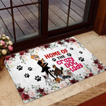 Home of the crazy dog lady Dog Doormat  Welcome Mat