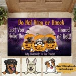 Dog Lovers Personalized Door Mat Do Not Ring Or Knock Funny Halloween Decoration