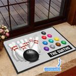 Bowling Funny Outdoor Indoor Wellcome Doormat