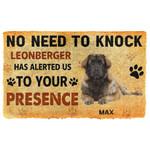 Gearhuman 3D No Need To Knock Leonberger Dog Custom Name Doormat