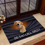 Golden Retriever Did You Call First Doormat Dog Doormat 3d Designs Funny Gifts For Neighbor
