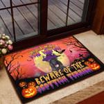 Beware Scottish Terrier Witch - Dog Doormat  Welcome Mat