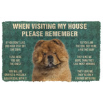 3D Please Remember ChowChow Dogs House Rules Doormat
